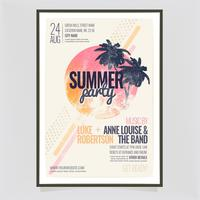 Vector Summer Party Poster Template