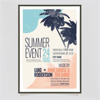 Cartel de evento de verano de vector
