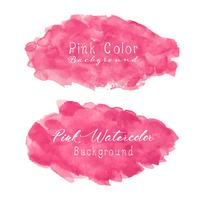 Roze abstracte waterverfachtergrond. Aquarel element voor kaart. Vector illustratie.