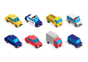 Transport isométrique Clip Art Set