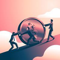 Los objetivos corporativos empujan la moneda del dólar
