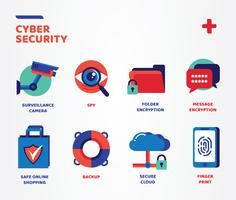 cyber security icons vector pack