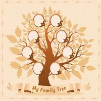 Conception de vecteur d'arbre généalogique
