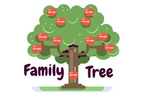 Family Tree Template with Appels