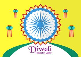 Uitnodiging achtergrond voor Diwali, festival van lichten van hindoe. Vector illustratieontwerp in gesneden document en ambachtstijl.