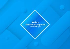 Abstracte blauwe achtergrond met kopie ruimte voor witte tekst. Modern sjabloonontwerp voor dekking, brochure, webbanner en tijdschrift. Vector illustratie in nieuwe trend.