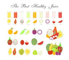 Fruit pulps isolated on white background, Healthy drink for body, Icon vector design.