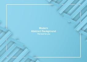 Fondo azul abstracto con color en colores pastel. Plantilla para presentación de negocios, portada, invitación, cartel, anuncio, banner. Nueva tendencia de diseño de ilustración vectorial en papel 3D.