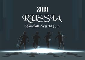 Udonthani, THAILAND - April 17 2018 : FIFA world cup background in 2018, RUSSIA. Character vector design with sportsman.