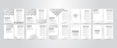 Set of flyer design with polygon structure and copy space. Vector illustration.