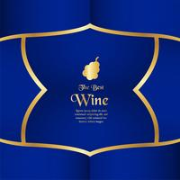 Luxusverpackungsschablone in der modernen Art für Weinabdeckung, Bierkasten. Vektorabbildung im erstklassigen Konzept. EPS 10.