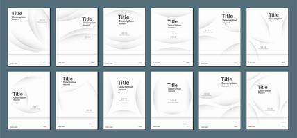 Abstrait moderne blanc avec espace de texte pour la bannière Web, la conception de la couverture, la brochure, le livre, les modèles et la présentation. Illustration vectorielle.