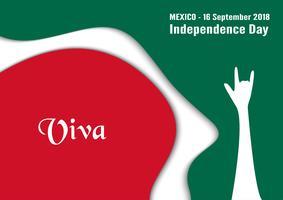 Illustrazione vettoriale per il giorno dell'indipendenza del Messico il 16 settembre per sfondo celebrato.