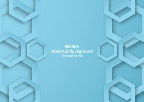 Abstrakter blauer Hintergrund mit Pastellfarbe. Vorlage für Business-Präsentation, Cover, Einladung, Plakat, Werbung, Banner. Neue Tendenz des Vektorillustrationsdesigns im Papierschnitt 3D.