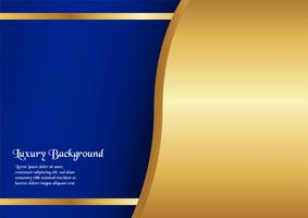 Abstract blue background in premium concept with golden border. Template design for cover, business presentation, web banner, wedding invitation and luxury packaging. vector