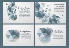 Hexagon on white and grey background with copy space for text. Vector illustration.