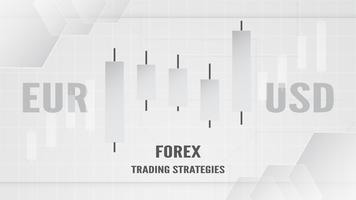 Forex trading strategy concept in paper cut and craft for business, trader, Investment, marketing. Vector illustration on abstract technology bacgkround in white and grey.