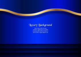 Fundo azul abstrato no conceito superior com espaço da cópia. Projeto do molde para a tampa, a apresentação do negócio, a bandeira da Web e o empacotamento.