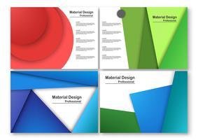 La progettazione materiale moderna astratta nello stype del taglio della carta con lo spazio del testo. Modello per presentazione aziendale, copertina, brochure, sfondo e layout. Illustrazione vettoriale