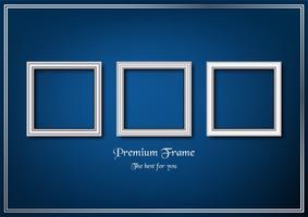 Vit bildram på blå gradient bakgrund.