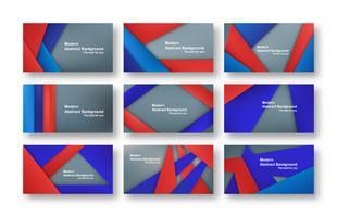 Projeto material vermelho e azul abstrato no fundo cinzento para a tampa, o molde, o design web e o folheto. Ilustração vetorial com espaço de cópia para o texto.