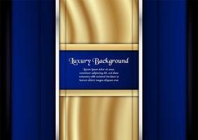 Abstrakt blå bakgrund i premiumkoncept med guldfärg. Malldesign för omslag, företagspresentation, webbbanner, bröllopsinbjudan och lyxförpackning.