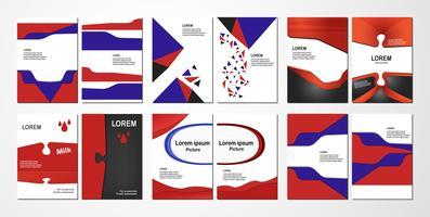 Diseño de volante abstracto con espacio de texto para banner web, portada, folleto, libro y presentación de negocios.
