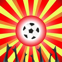 Abstract design with football and hand on explosion background.