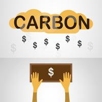 Vector design in concept of Carbon Pricing on grey gradient background.