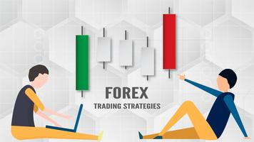 Concetto di strategia di trading Forex in carta tagliata e mestiere per affari, commerciante, investimenti, marketing. Illustrazione vettoriale su tecnologia astratta bacgkround in bianco e grigio.