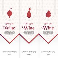 Luxury packaging template in modern style for wine cover, beer box. Vector illustration in premium concept. Paper cut and craft EPS 10.