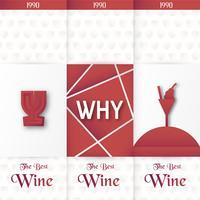 Modèle d'emballage de luxe dans un style moderne pour la couverture du vin, boîte de bière. Illustration vectorielle dans le concept premium. Papier découpé et fabriqué EPS 10.