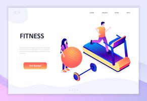 Modern flat design isometric concept of Fitness