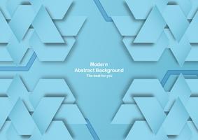 Abstracte blauwe achtergrond met pastel kleur. Sjabloon voor zakelijke presentatie, dekking, uitnodiging, poster, advertentie, banner. Nieuwe trend van vector illustratieontwerp in 3D papier knippen.