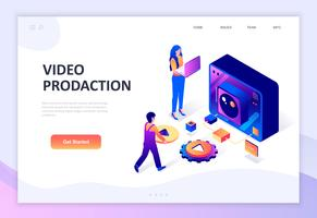 Modern flat design isometric concept of Video Production