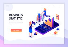 Modern flat design isometric concept of Business Statistic