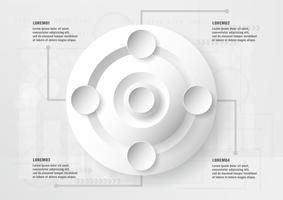 Infographic elementontwerp op technologieachtergrond met exemplaar scape voor grafisch, dekking, bedrijfspresentatie, malplaatje, gegevensinformatie amd chronologie.