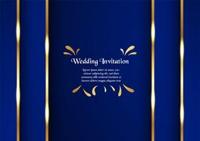 Abstract blue background in premium concept with golden border. Template design for cover, business presentation, web banner, wedding invitation and luxury packaging.