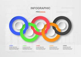 Infographic element design on technology background with copy space for text. Vector illustration in colorful color for graphic, cover, business presentation, template, data imformation and timeline.