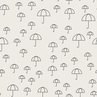Sem costura de fundo. Conceito abstrato e clássico. Tema elegante design criativo geométrica. Vetor de ilustração. Cor preto e branco. Forma de guarda-chuva para o inverno de verão e estação chuvosa