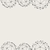 Sömlös mönster bakgrund. Modernt abstrakt och klassiskt antikt koncept. Geometrisk kreativ design snyggt tema. Illustration vektor. Svartvit färg. Teknologi anslutningslinje cirkelform