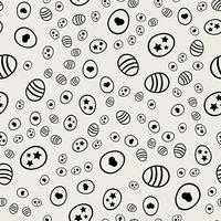 Seamless pattern background. Abstract and Classical concept. Geometric creative design stylish theme. Illustration vector. Black and white color.  Easter egg with heart shape for Easter day