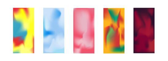 Colección del ejemplo del vector del papel pintado de Smartphone. Uso de máscara de recorte y pantalla editable por malla de degradado. Concepto abstracto del papel pintado. Tema de tecnología y comunicación.