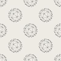 Nahtlose Muster Hintergrund. Modernes abstraktes und klassisches antikes Konzept. Stilvolles Thema des geometrischen kreativen Designs. Abbildung Vektor. Schwarzweiss-Farbe. Technologie Verbindungslinie Kreisform