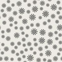 Nahtlose Muster Hintergrund. Abstraktes und klassisches Konzept. Stilvolles Thema des geometrischen kreativen Designs. Abbildung Vektor. Schwarzweiss-Farbe. Schneeflockeneis für Weihnachtstag