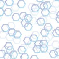Extracto blanco con el fondo azul del vector del polígono