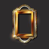 Goldene Rahmen und Grenzen der dekorativen Weinlese