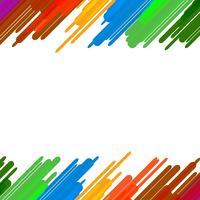 Kleurrijke splash verf kunst achtergrond. Onderwijs en Grappig concept. Tekenen met regenboogkleuren thema. Vector illustratie