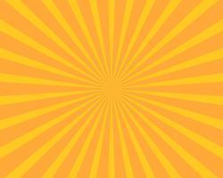 Fondo amarillo del vector de la ilustración de la explosión del sol. Concepto abstracto y fondo de pantalla.