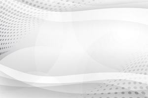 Witte abstracte achtergrond vector. Grijze samenvatting. Moderne ontwerpachtergrond voor rapport en projectpresentatiesjabloon. Vector grafische illustratie. Futuristische en ronde vorm van de curve